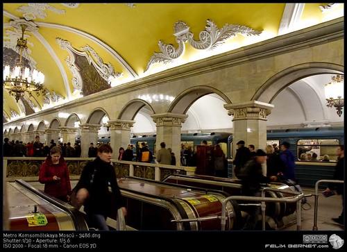 Metro Komsomólskaya Moscú - 3486