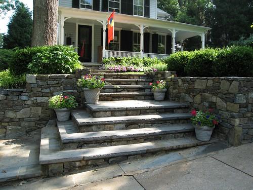 mitered corner steps landscape design ideas