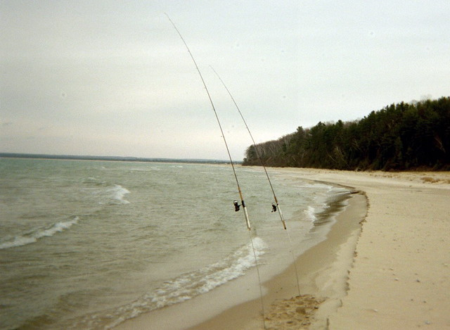Surf fishing at the platte river mouth flickr photo for Platte river michigan fishing