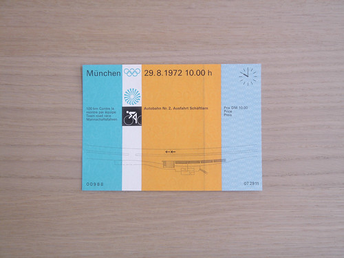 Munchen 72, Cycling Ticket