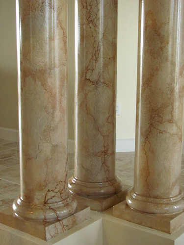Marble Column Wall : Art faux wall designs another marble