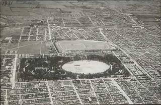 vista aerea del parque cousiño y el club hipico de santiago 1931 ver en grande
