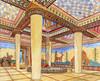 Grecia Micenas Palacio dibujo reconstruccion