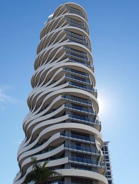 Wave building gold coast australia flickr photo for Architecture design company in australia