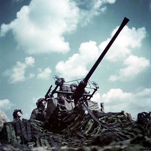無料写真素材, 戦争, ボフォース mm機関砲, 第二次世界大戦