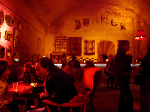 Old Vic Tunnels: Bunker Bar - the warmest place down there