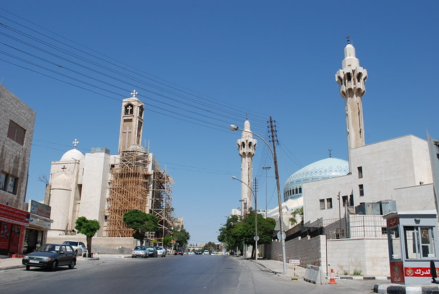 Coptic Church and King Abdullah Mosque - Amman, Jordan