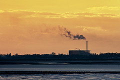 Industrial sunset Portsmouth