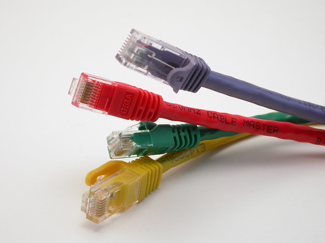 Ethenet cables. Photo: Flickr/Dugbee
