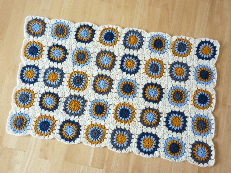 finished! granny square blanket