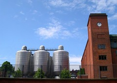 Carlsberg: Beer tanks & old yeast cellar building