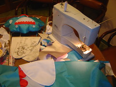 sewing, art, blue,