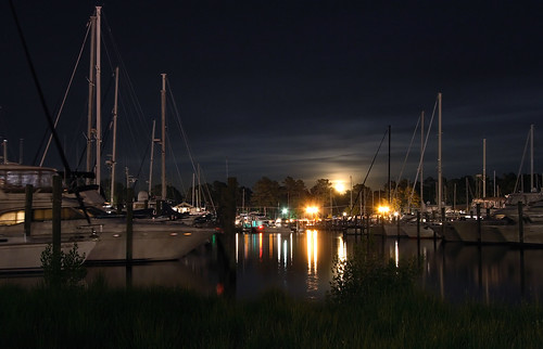 Moon Rise at the Marina