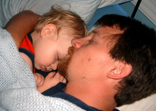jack and dad sleeping