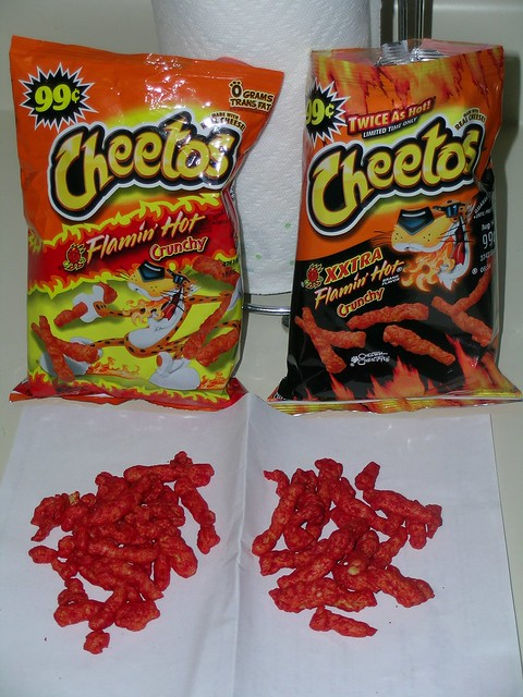 xxtra flamin hot cheetos