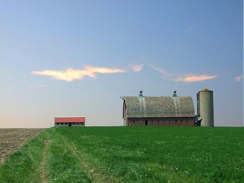 field minnesota barn landscape