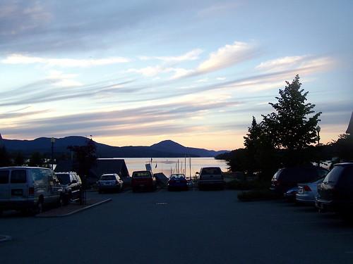 sunset vermont newport lakememphremagog