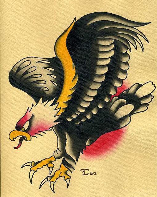 American Traditional Eagle Tattoo Flash on American Traditional Eagle Tattoo Designs