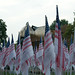 Flags of Honor with sphere