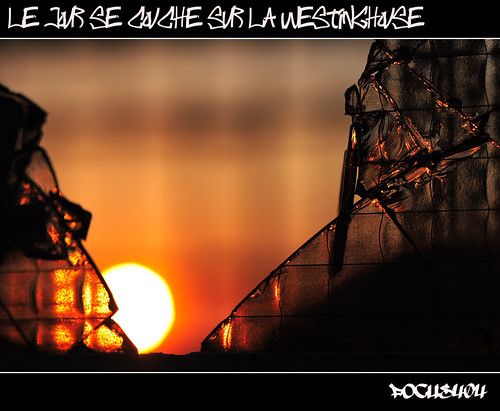sunset sun glass canon eos soleil focus dof urbanexploration tones fr t4 verre couchédesoleil westinghouse urbex sevran friche canon85mmf18usm verrebrisé 400d freinville