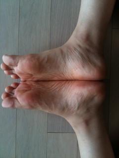 baddha konasana feet