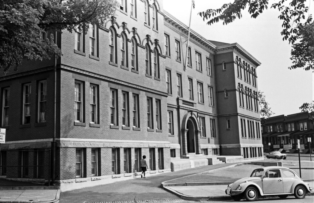 Baltimore City School Number 74 in the 2200 block of Homewood Avenue, c. 1969. University of Baltimore, Langsdale Library, [MUND Collection](https://www.flickr.com/photos/ubarchives/4703514748/)