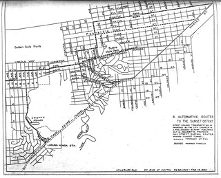 Six Alternative Routes to the Sunset District (1924)