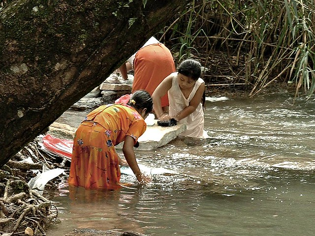 indians in river