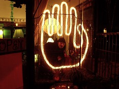 the big hand we made for the clinton street merchants christmas festival