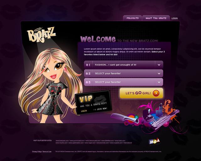 Old Bratz Website 86