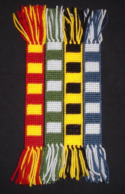 Hogwarts House Scarf Bookmarks Flickr - Photo Sharing!