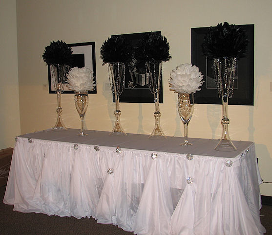 Feather Ball Table Centerpiece Decorations
