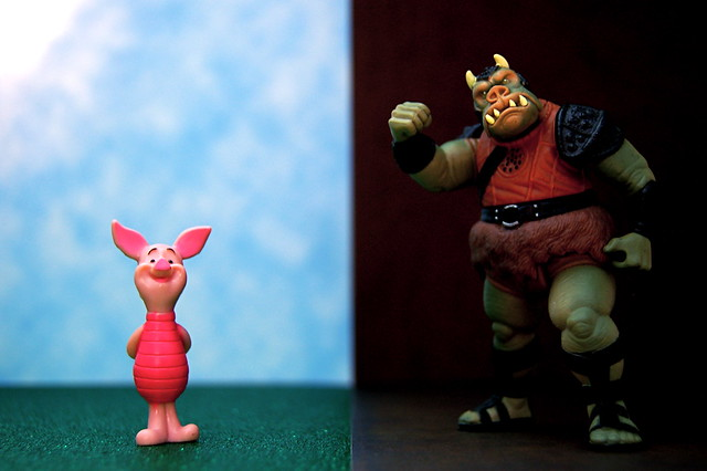 Piglet vs. Gamorrean Guard (322/365)