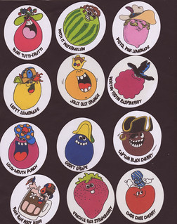 Funny Face - Custom Cloth Stickers - 2007