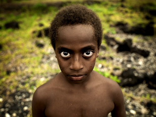 Boy with big eyes, Ambrym island, Vanuatu