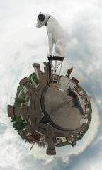 "Nipper ""His Master's Voice"" Polar Panorama, Albany NY"