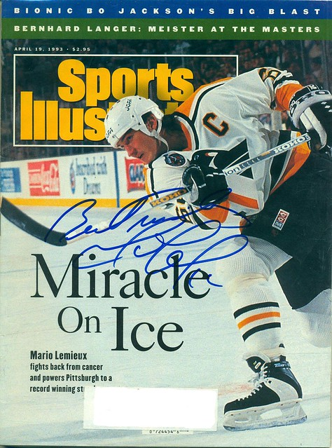 April 19, 1993, Autographed Sports Illustrated by Mario Lemieux