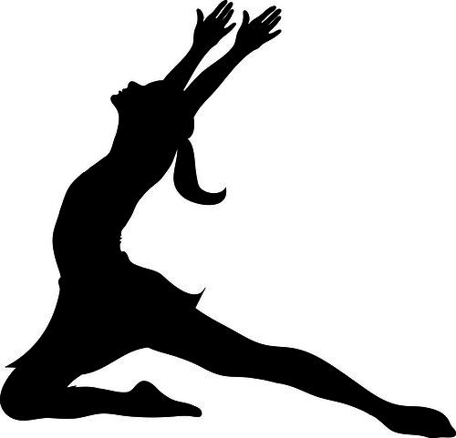 Clip Art Illustration Of A Silhouette Of A Ballet Dancer L