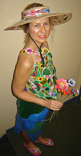 """Mary's Garden"" ~ Completed Eco Fashion Ensemble ~ 5"