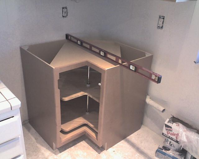 Installing Corner Base Cabinet With Lazy Susan Flickr