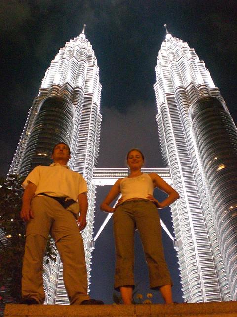 Tvö fræknu og tvíburaturnarnir Petronas