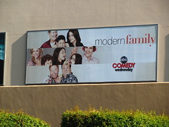 Modern Family billboard on Disney California Adventure soundstage