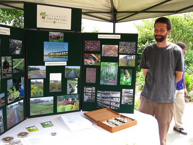 Greenbelt Native Plant Center teaches visitors how planting native flora can help our local pollinators. Photo by Rebecca Bullene.