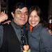 Curator Rene Yanez with Susana
