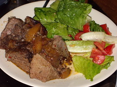 Fruit Stewed Beef  and Salad