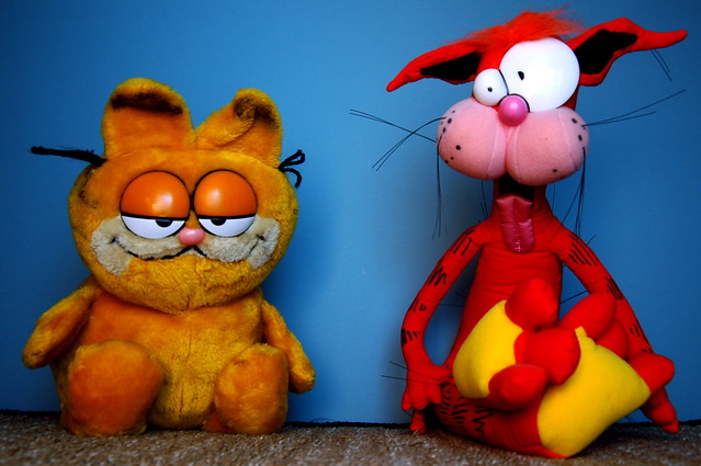 Garfield vs. Bill The Cat (152/365)
