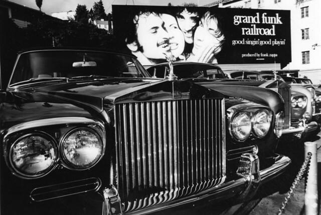 rolls royce parking lot sunset strip 1976