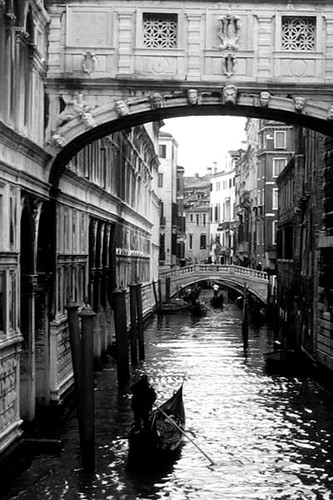 Venice Canal Romance and Mystery in Black and White - a ...