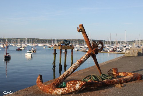 Old anchor at Mylor Harbour, Mylor Creek (River Fal) by Stocker Images