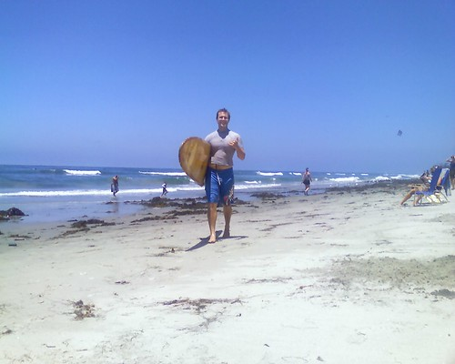Tim with surfboard